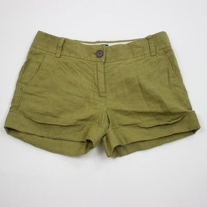 J.Crew Baird McNutt city fit linen shorts green 2